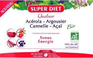 Quator Tonus Energie à l'Açaï, Argousier, Cannelle et Acérola